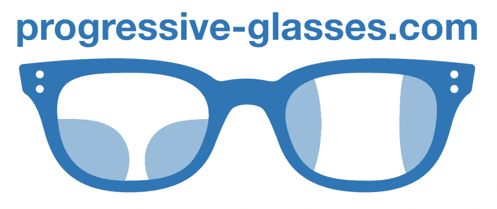 This picture shows the logo ofprogressive-glasses.com