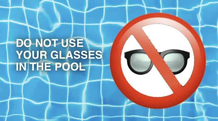 One mistake with my progressive glasses was to wear them in the pool