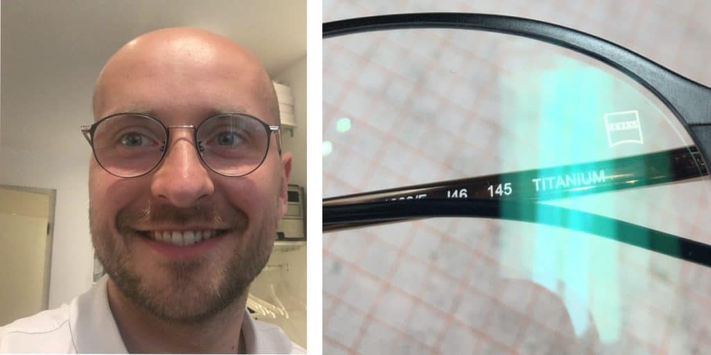The picture shows Michael Penczek with the Zeiss Individual progressive lenses review