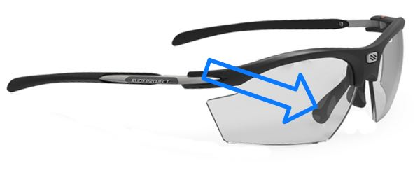 the picture shows the frame Rydon from Rudy project which is ideal for Progressive lenses for cycling